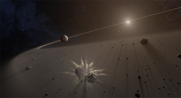 Debris disks of comets are coming together to form exoplanets