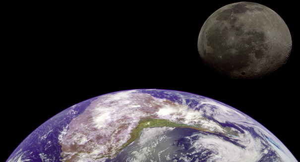 OSIRIS-REx spacecraft photographs Earth and Moon