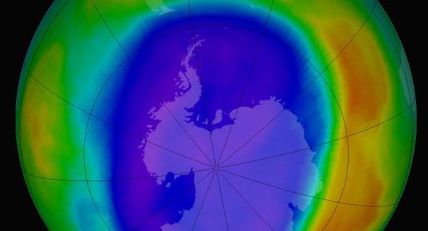 Earth's ozone layer steadily recovering over time