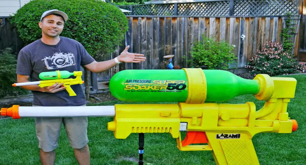 Engineer creates the largest water gun ever
