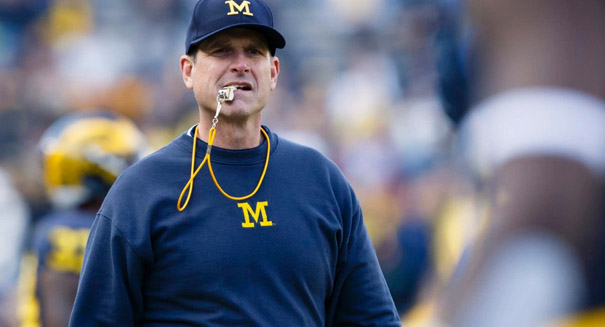 Jim Harbaugh threatened by former player in social media post