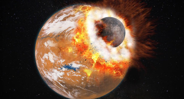 Large impact likely created Mars' moons