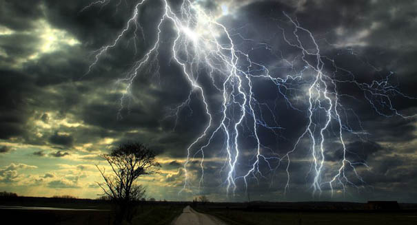 Lightning creates nuclear reactions through antimatter