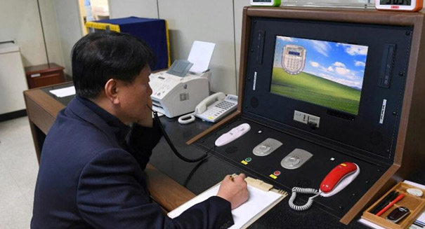 North Korea calls South Korea on hotline for first time in two years