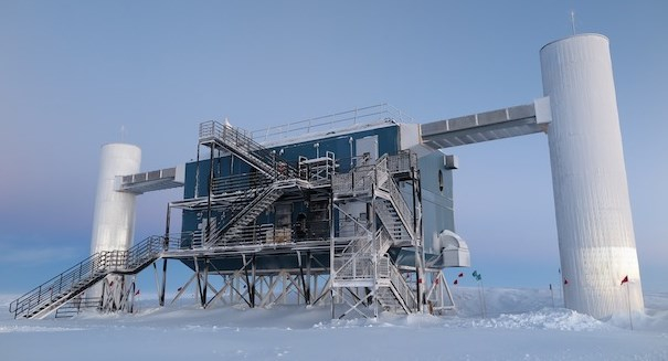 Sensors in Antarctic ice detect a ghost particle