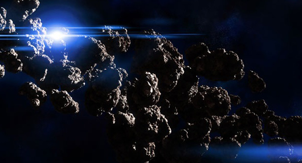 Asteroid-bound spacecraft slingshots past Earth