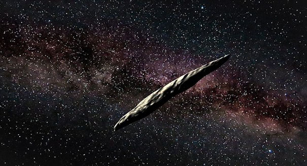 Bizarre bullet-shaped interstellar asteroid spotted