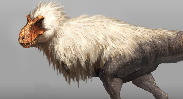 Feathered dinosaurs were much fluffier than modern birds
