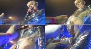 A video of Miley being groped hit the internet