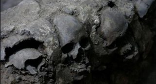 Archaeologists unearth long-lost Aztec tower of skulls