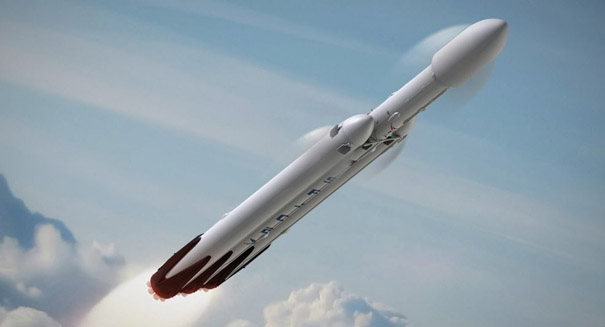 SpaceX delays launch of Falcon Heavy to 2018