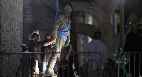 University of Texas-Austin takes down Confederate statues overnight