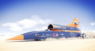 A supersonic car gears up for a record-breaking test drive