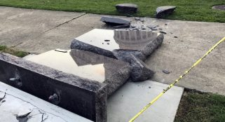 Man destroys Ten Commandments statue at Arkansas Capitol � again