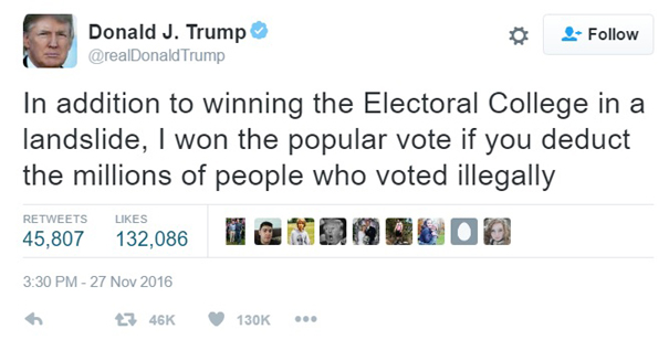 Trump hits back on vote recount