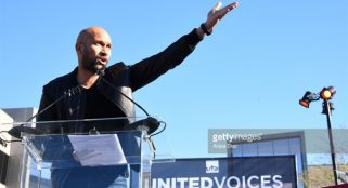 Stars speak out against travel ban at United Voices rally