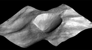 Vesta asteroid image hints at evolution of universe