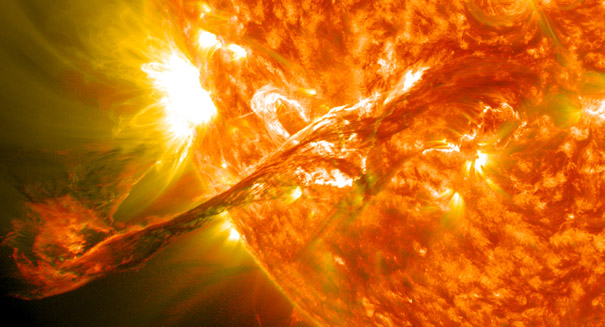 Drawing reveals white solar flare observed in 1886