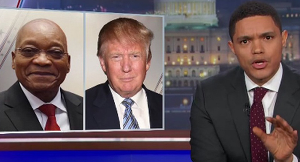 Trevor Noah makes  comparisons between dictator Zuma and Trump